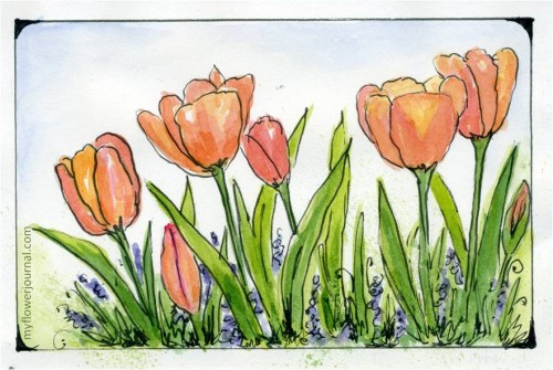 Flower Watercolor Painting For Beginners At Getdrawings Com Free