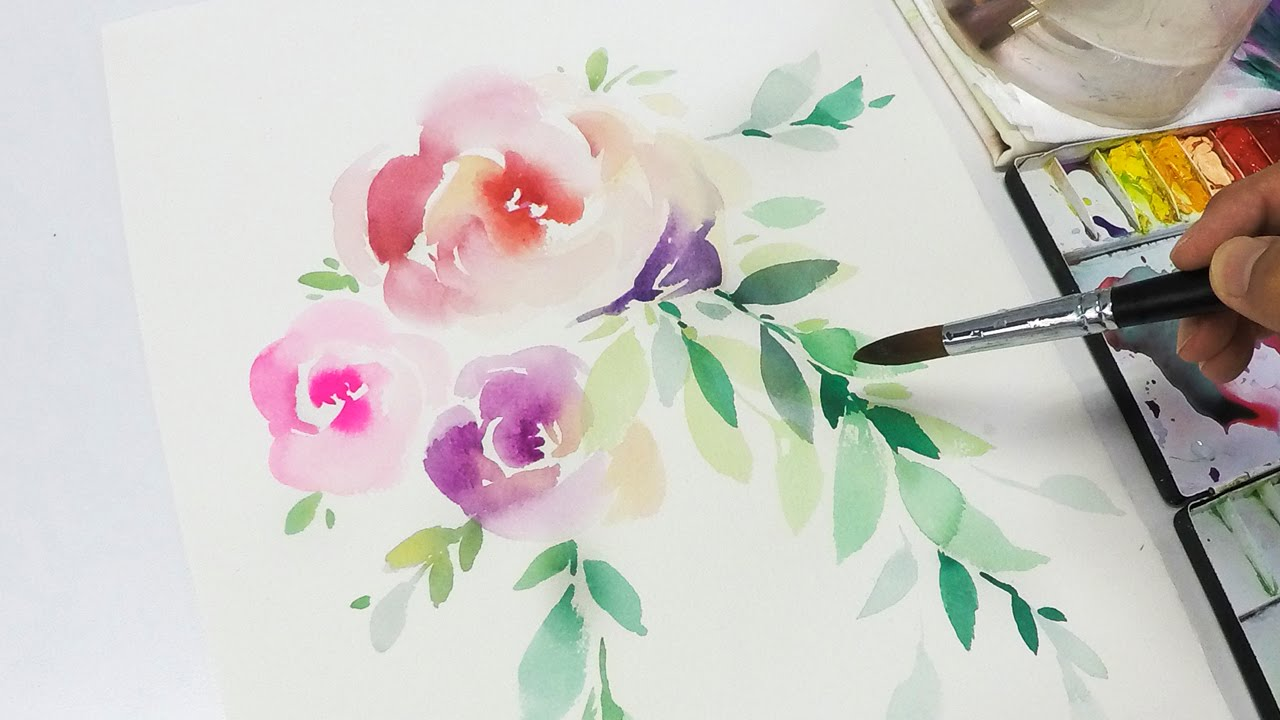 1280x720 Lvl2] Watercolor Flowers Tutorial