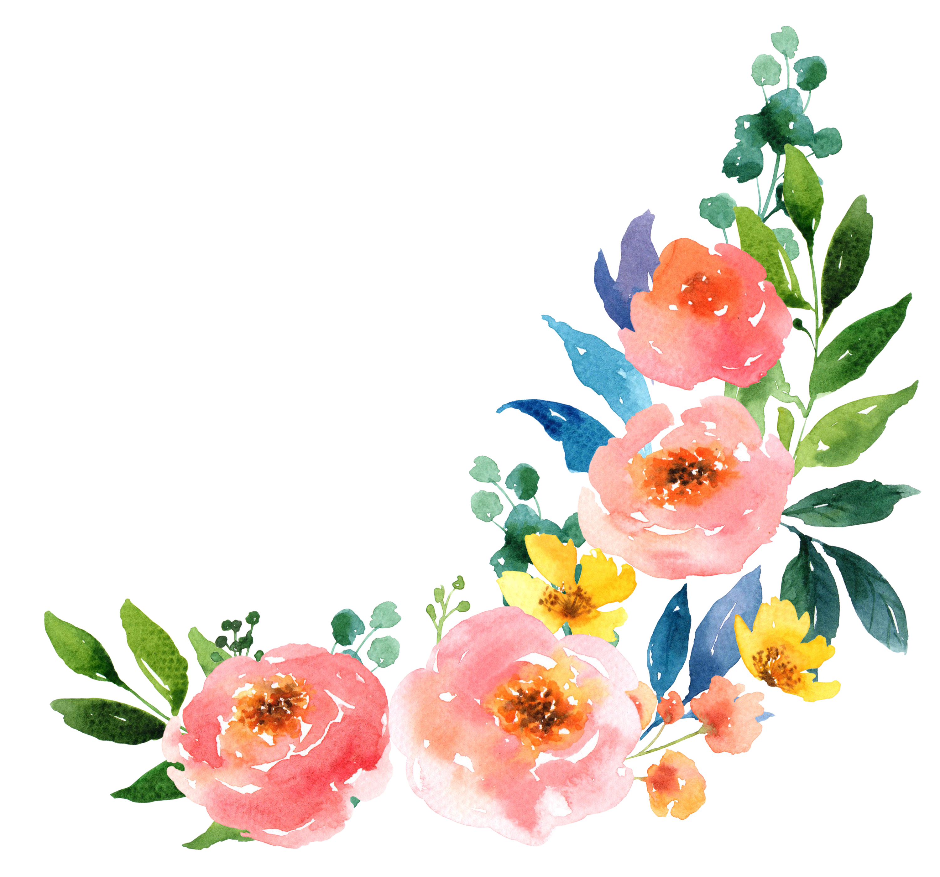 3000x2800 Paper Watercolour Flowers Watercolor Painting