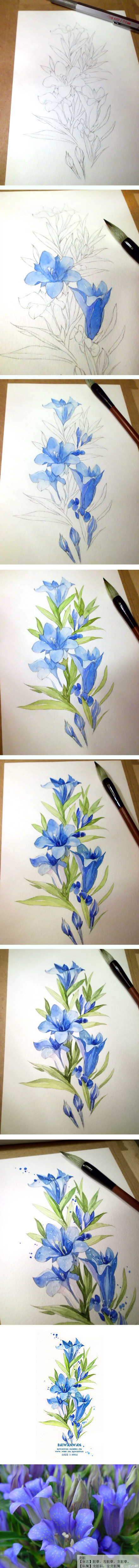 440x4962 20 Delicate Colorful Watercolor Flowers Painting Tutorials In Images