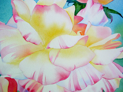 412x308 Watercolor Painting Demo Flowers