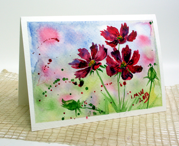 600x491 Watercolor Video Tutorial Cosmos The Frugal Crafter Blog