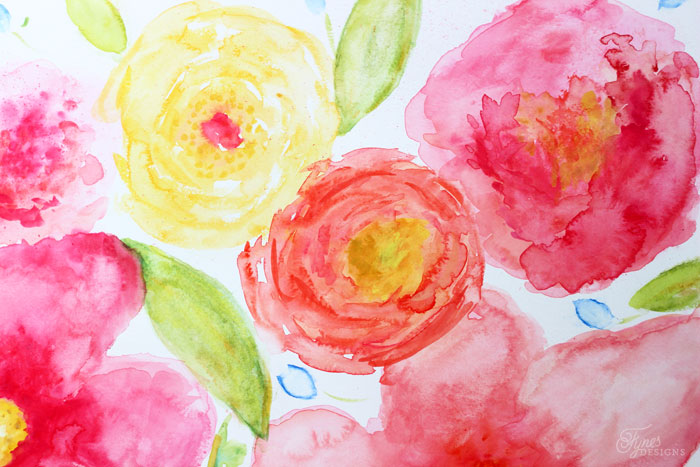 700x467 Beginner Floral Watercolor Painting