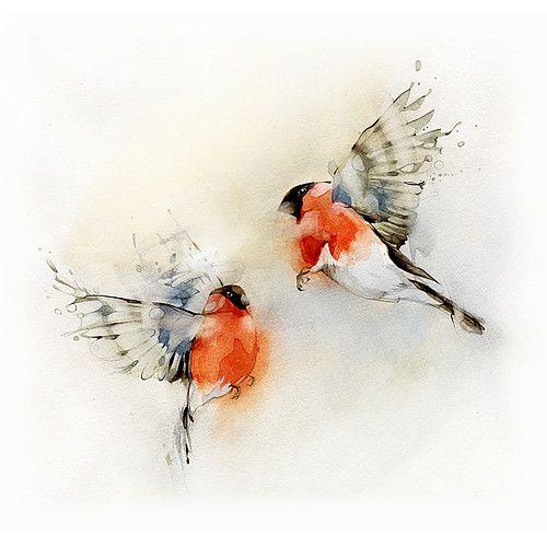 Flying Bird Watercolor
