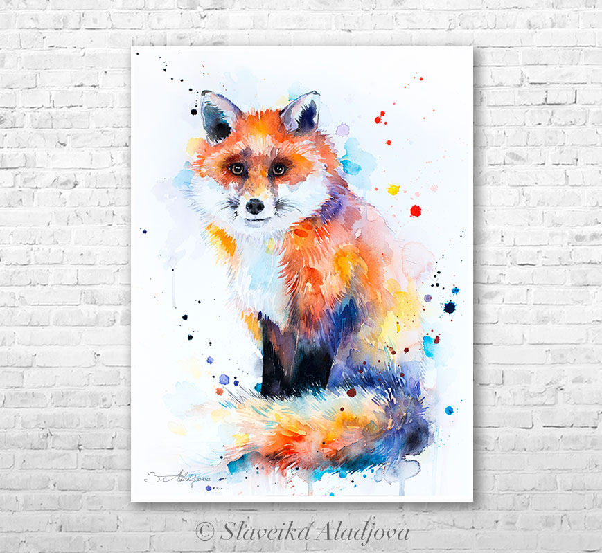 869x799 Red Fox Watercolor Painting By Slaveika Aladjova On Behance
