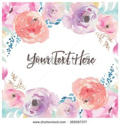 Free Floral Watercolor Background