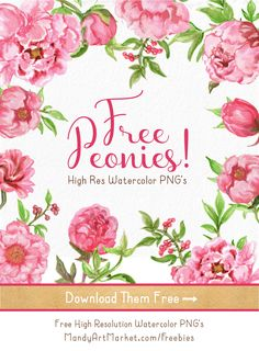 Free Printable Watercolor Flowers