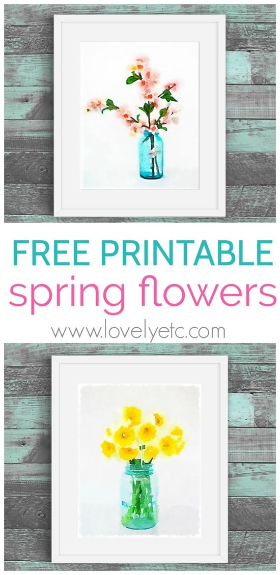 picture about Free Flower Printable referred to as No cost Printable Watercolor Bouquets at  Totally free