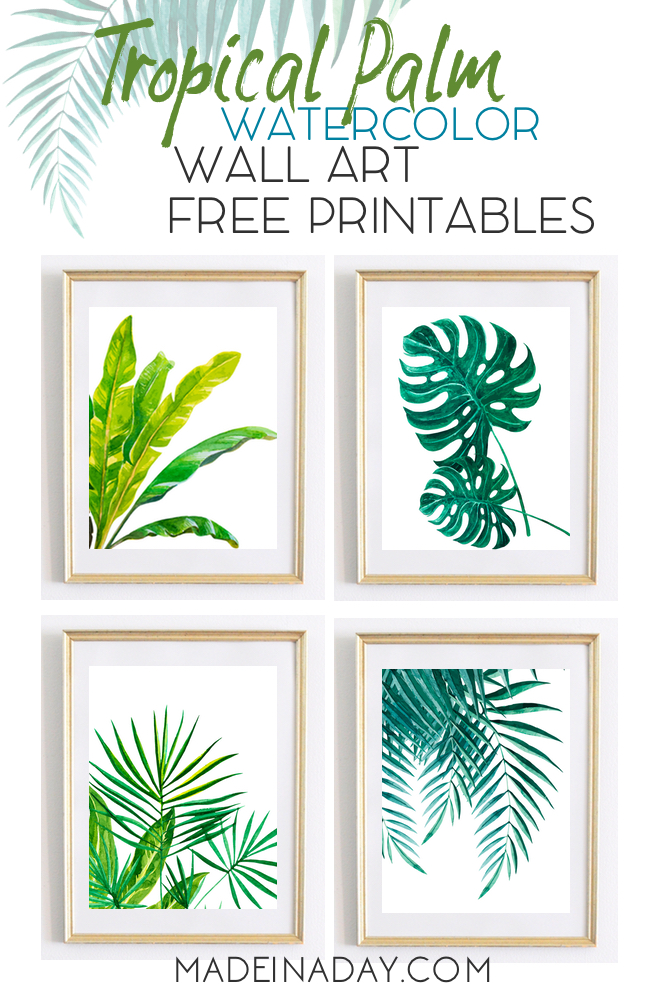 650x1000 Tropical Palm Wall Art Watercolor Printables Awesome Wall Art