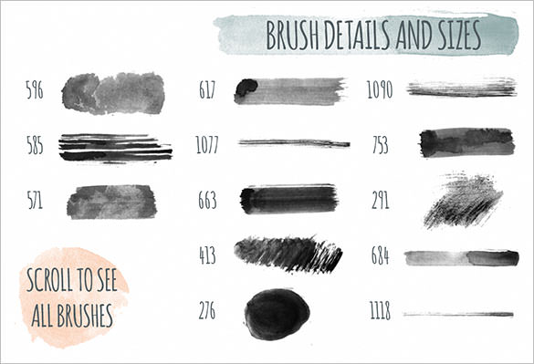 Free Watercolor Brushes at GetDrawings com | Free for personal use