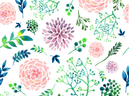 452x336 Watercolor Flowers Seamless Background Free Vector Background