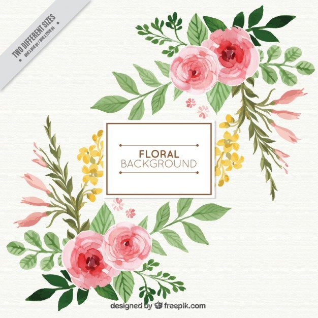 Free Watercolor Floral Background