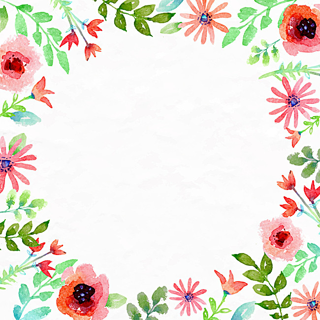 650x650 Watercolor Floral Background, Watercolor, Flower, Hand Background