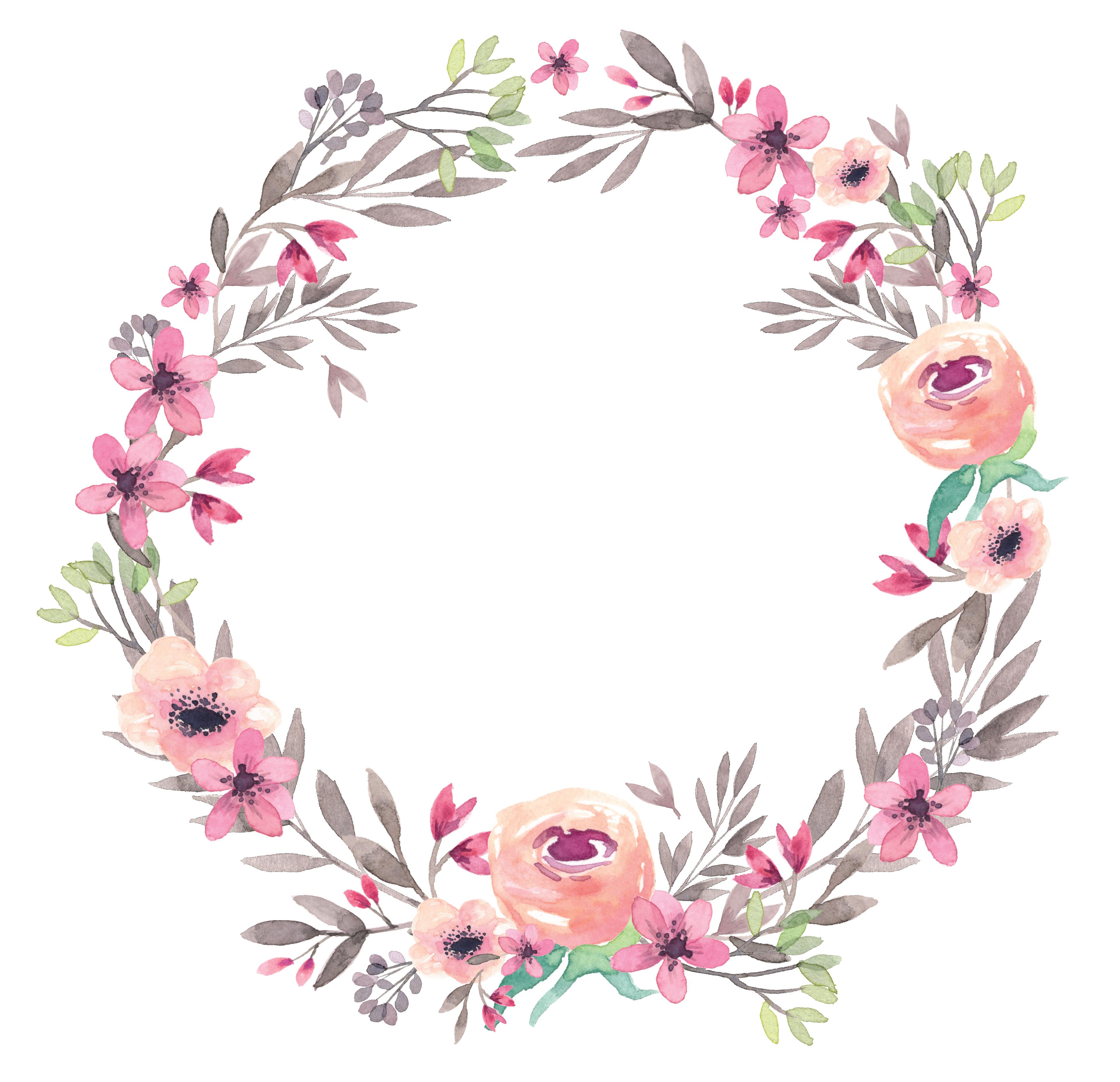 Free Watercolor Flower Border