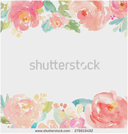 image about Free Printable Flower Borders referred to as Free of charge Watercolor Flower Border at  Cost-free for