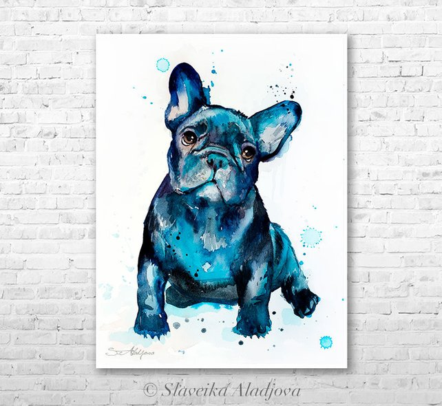 French Bulldog Watercolor At Getdrawings Com Free For