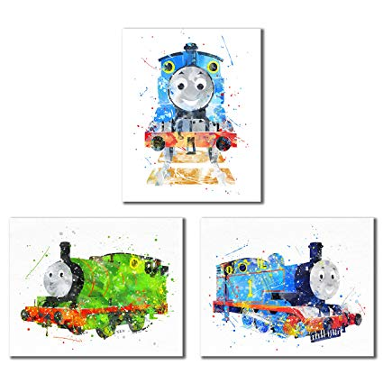 425x425 Thomas And Friends Watercolor Train Prints