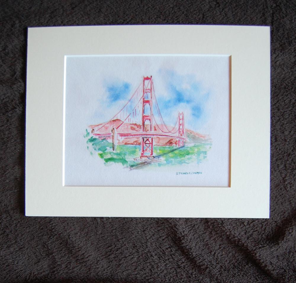1000x958 Golden Gate Bridge Watercolor