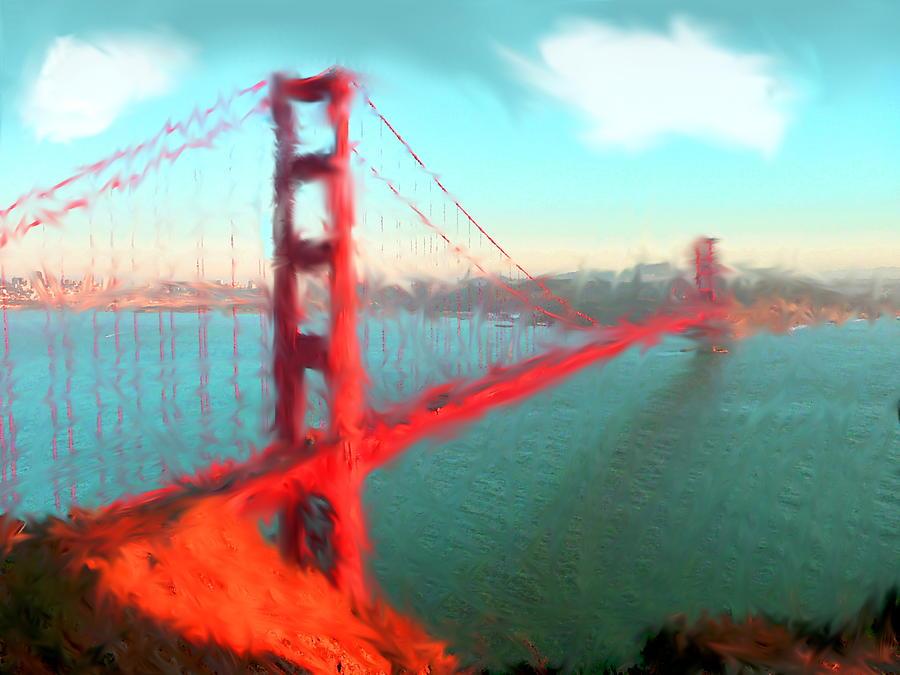 900x675 Golden Gate Bridge Watercolor Painting By Enki Art