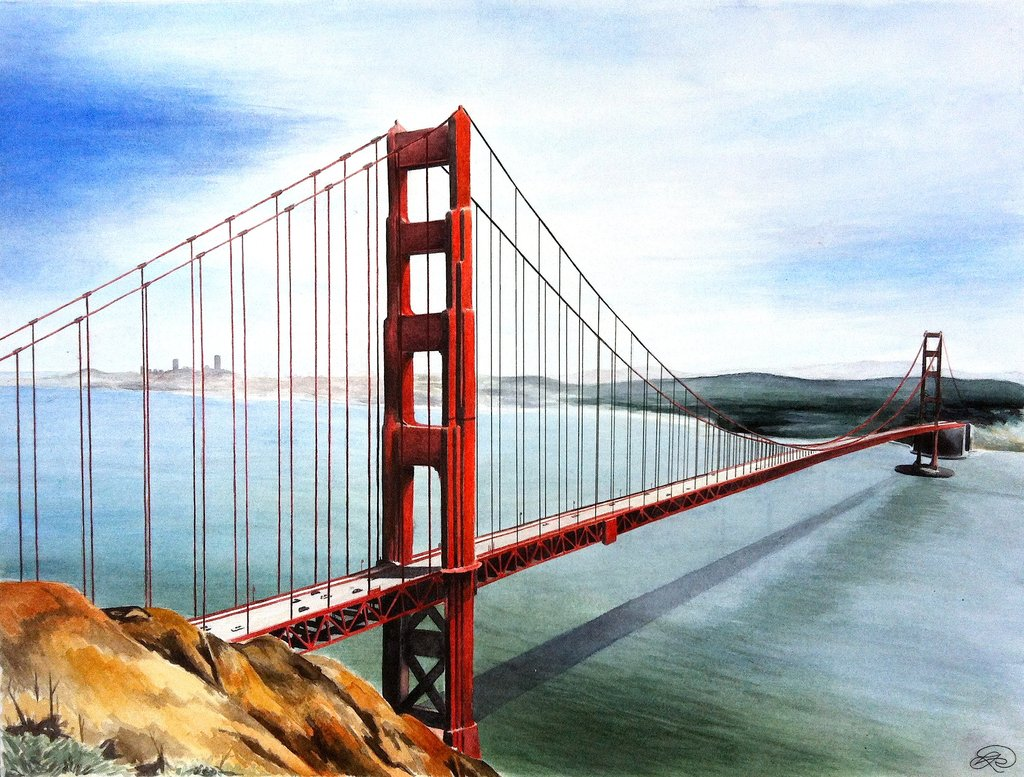 1024x777 Golden Gate Bridge By Ev Sta
