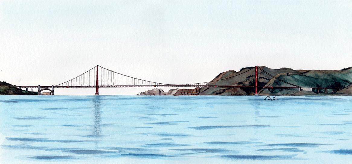 1166x545 San Francisco Bay Limited Edition Art Print Esther Beler Wodrich