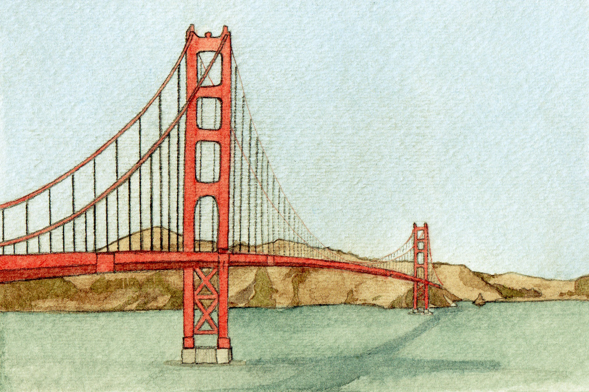 1909x1273 San Francisco And Watercolor The Art Of Brian