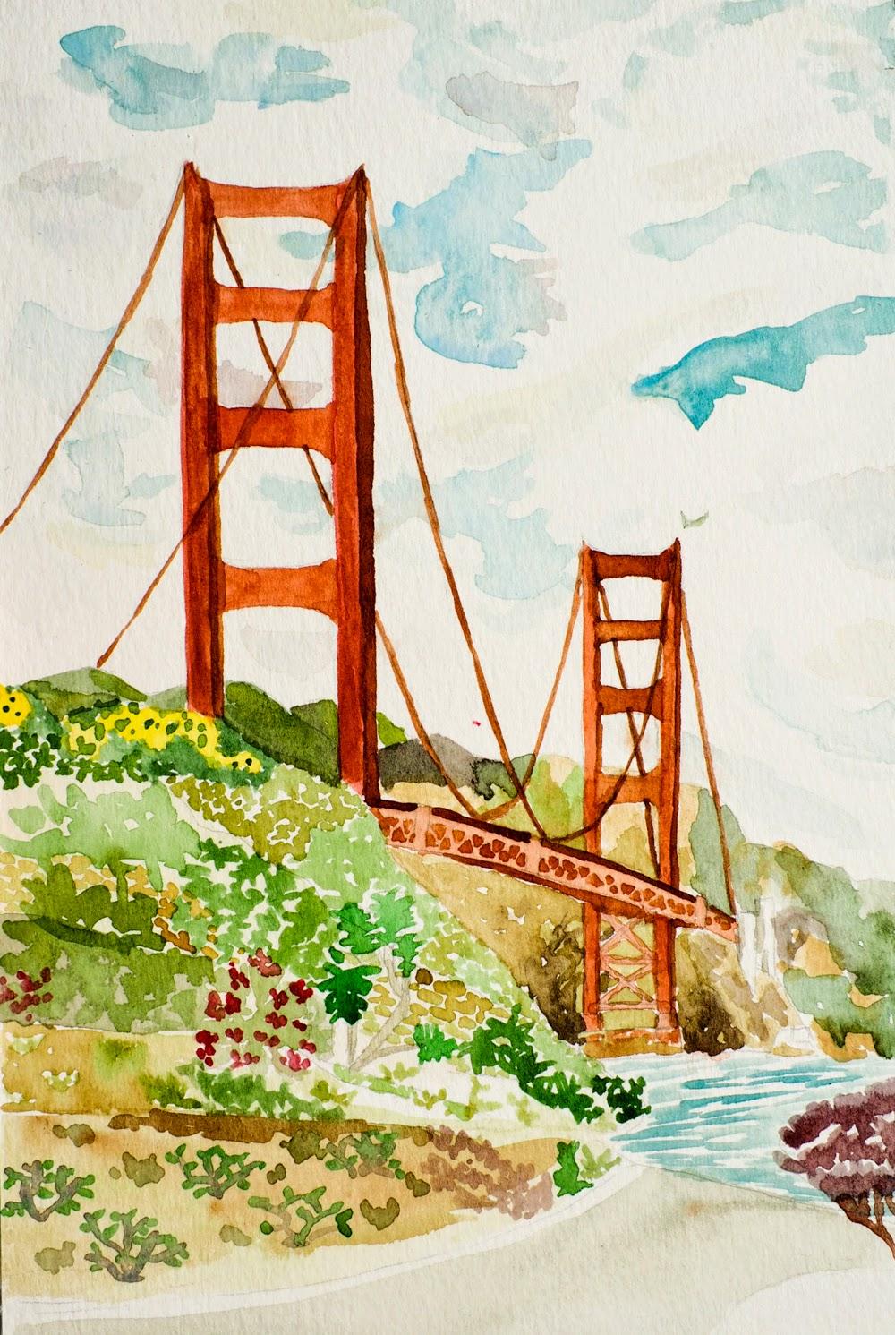 1000x1491 The Art Of A. Roy Greenfeld Golden Gate Bridge Ii
