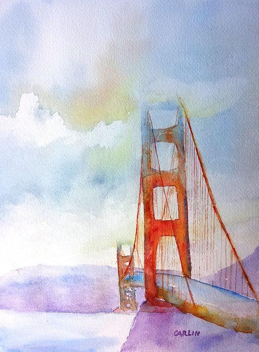 515x700 Watercolor Of Golden Gate Bridge Golden Gate Bridge 2 Watercolor