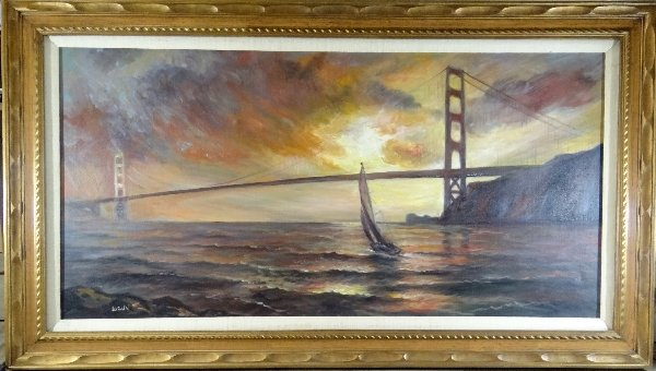 Golden Gate Bridge Watercolor Painting
