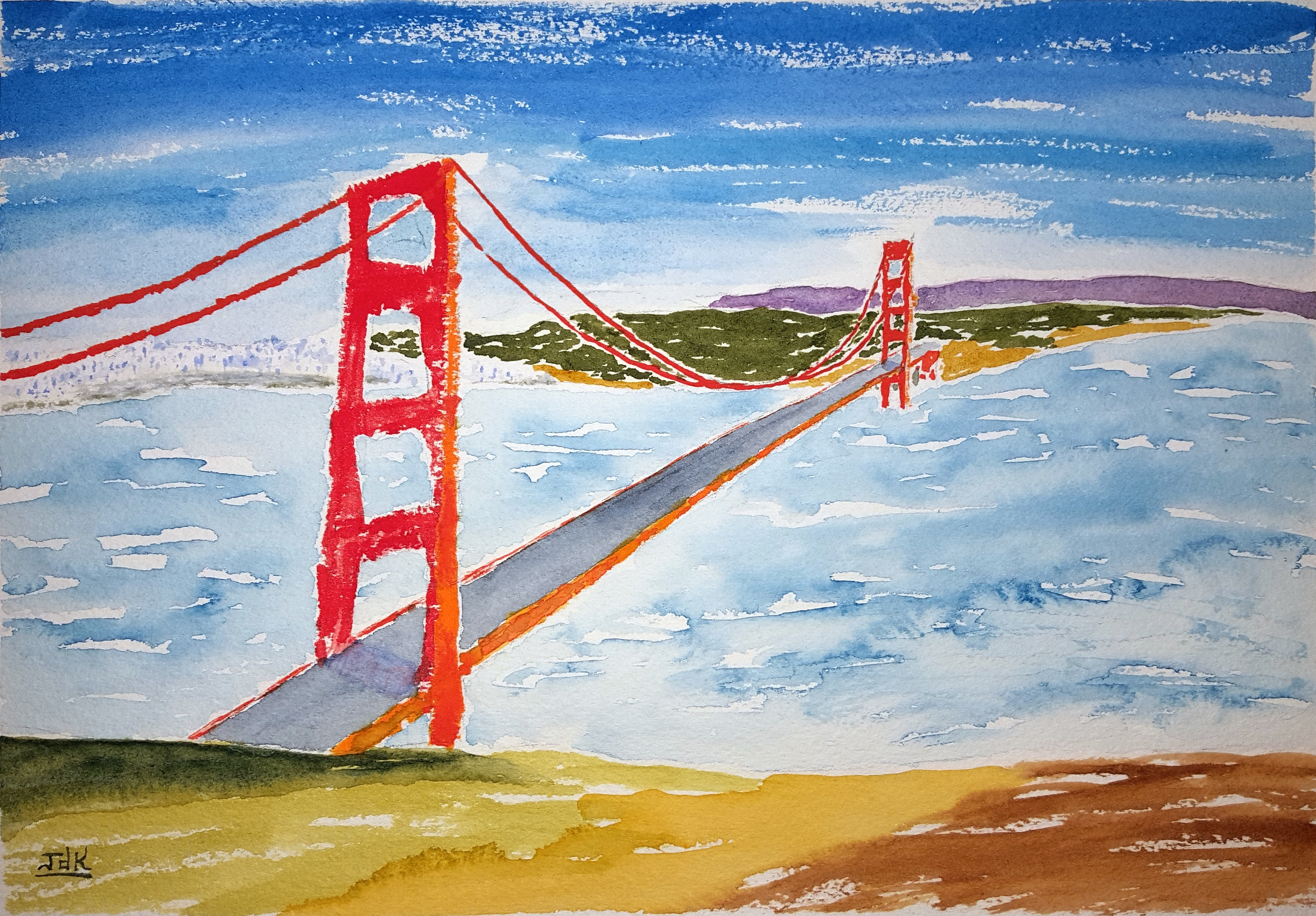 3962x2760 New Watercolor ~ Golden Gate Lore Art Of Lore