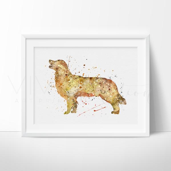 600x600 Golden Retriever Dog Animal Nursery Art Print Wall Decor