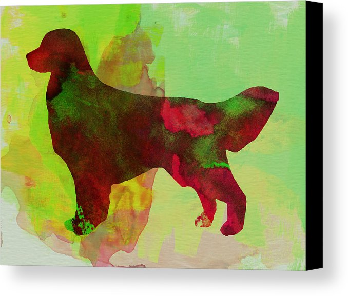 678x577 Golden Retriever Watercolor Canvas Print Canvas Art By Naxart Studio