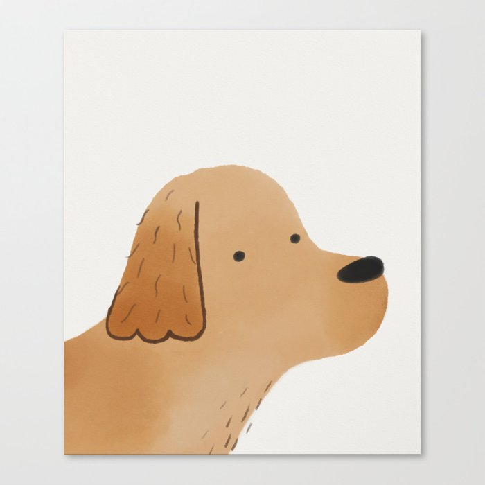 700x700 Golden Retriever Watercolor Illustration Canvas Print By