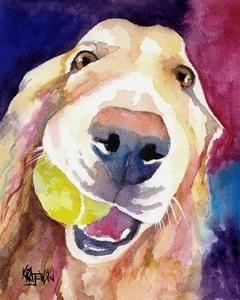 240x300 Golden Retriever Watercolor Portrait 102806