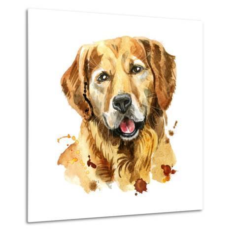 473x473 Watercolor Portrait Of Golden Retriever Art Print By Natalia