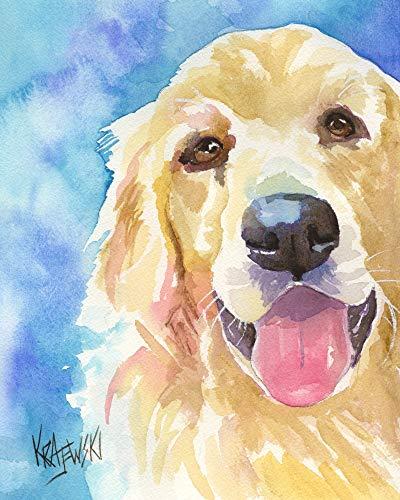 400x500 Golden Retriever Dog Fine Art Print On 100% Cotton