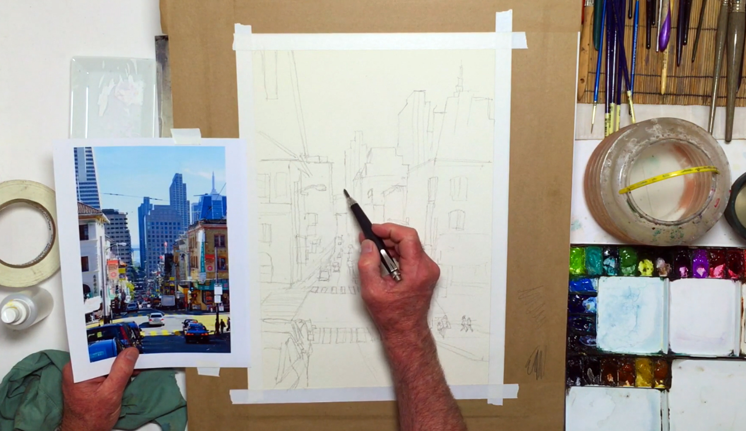 1529x884 City Landscape Painting A 15 Step Tutorial Filled With City
