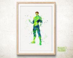 Green Lantern Watercolor