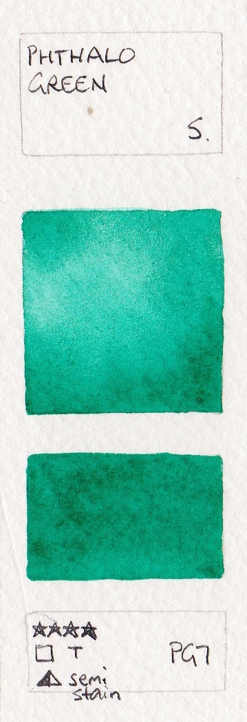 359x1046 Green Watercolour Swatches