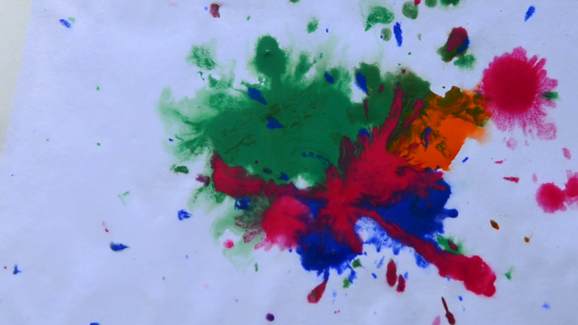 1920x1080 Hd 1080 Drops Of Paint Of Different Red, Blue, Green, Yellow