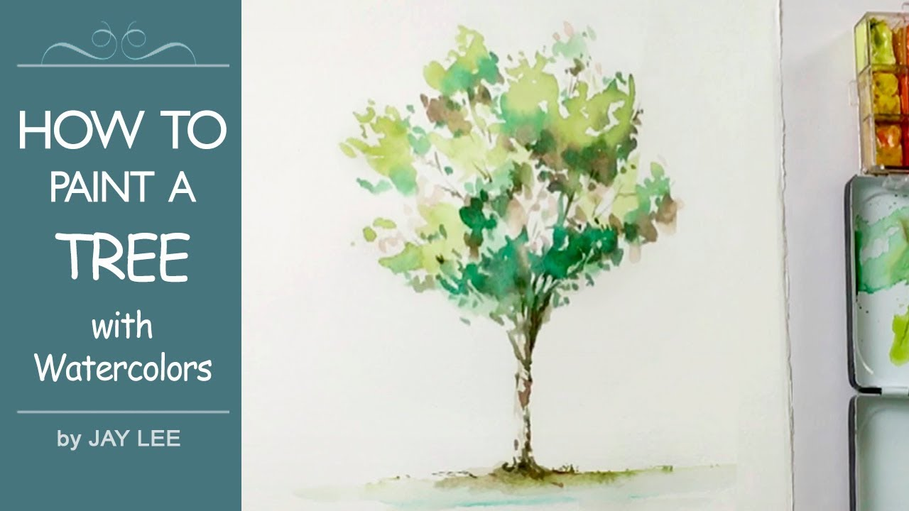 1280x720 How To Paint A Tree For Beginners Easy Watercolor Painting