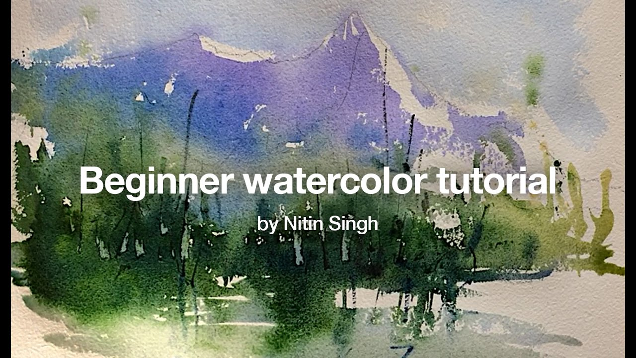 1280x720 How To Paint A Simple Landscape In Watercolor