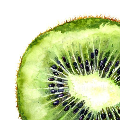 500x500 Love This Kiwi Watercolor Design Kiwi, Watercolor
