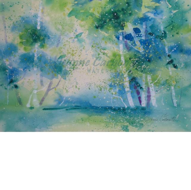 641x638 Afternoon Swim Original Watercolor Painting