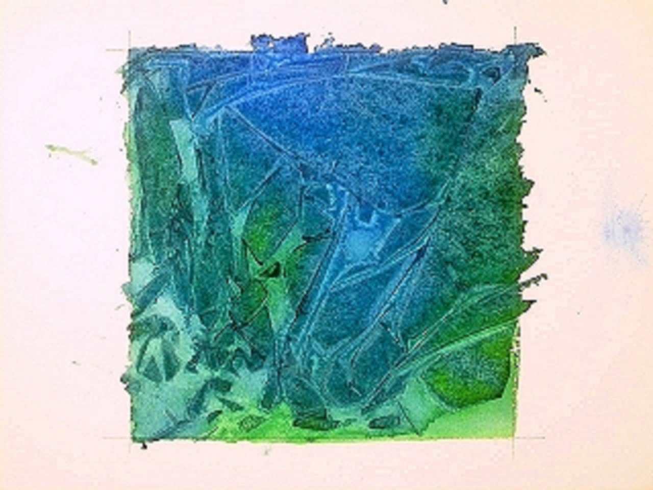 1280x960 Clever Watercolor Technique Using Plastic Wrap For Texture