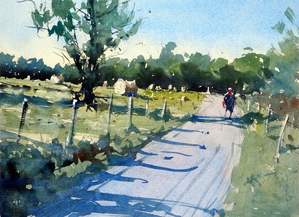 1200x871 ~ Guest Artist How To Paint A Simple Rural Scene In