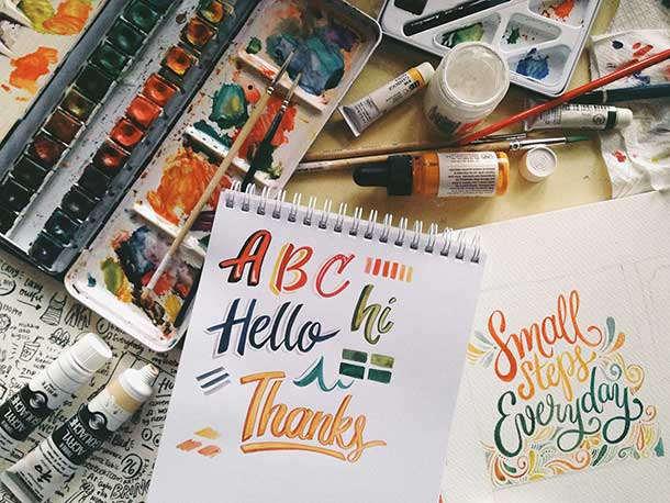 Hand Lettering Watercolor