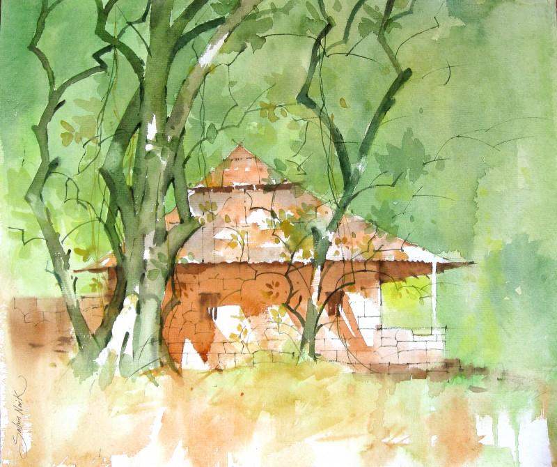 800x670 Watercolour Landscapes By Artist Sachin Naik Landscape Art