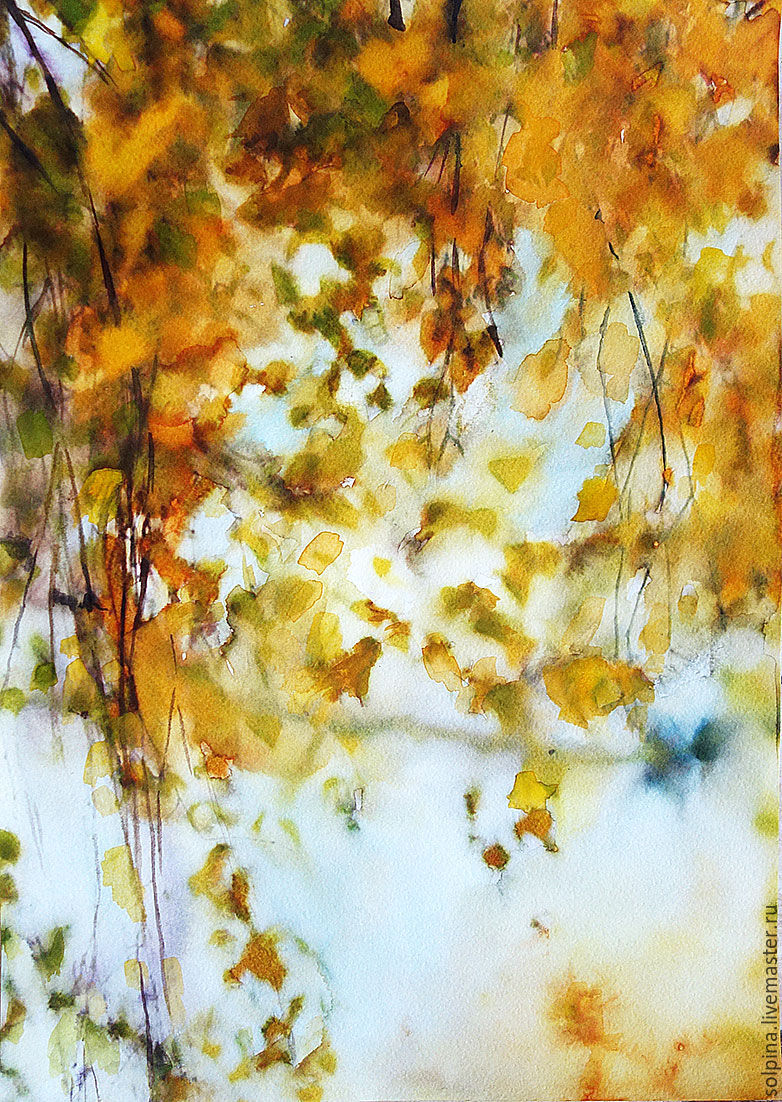 782x1102 Warm Autumn. Watercolor Shop Online On Livemaster With Shipping