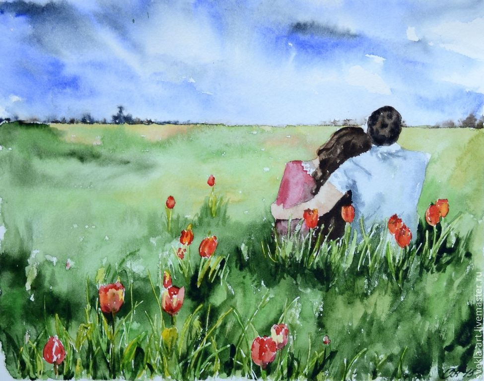 975x768 Watercolor Art Romance Shop Online On Livemaster With Shipping